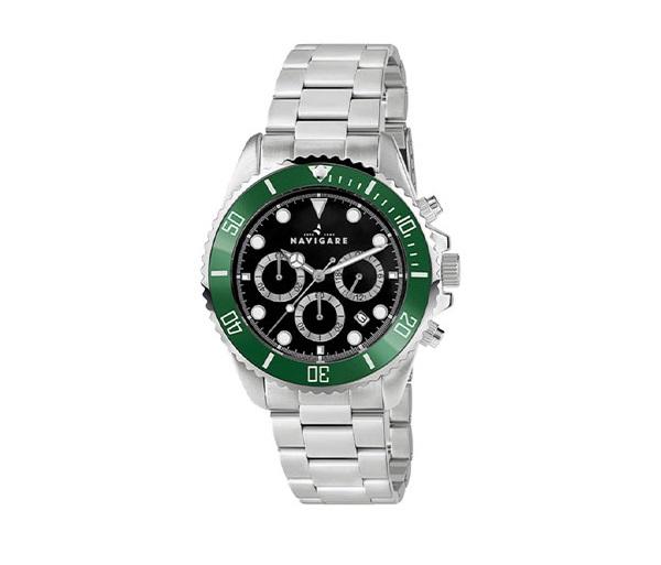 Orologio Navigare ghiera verde