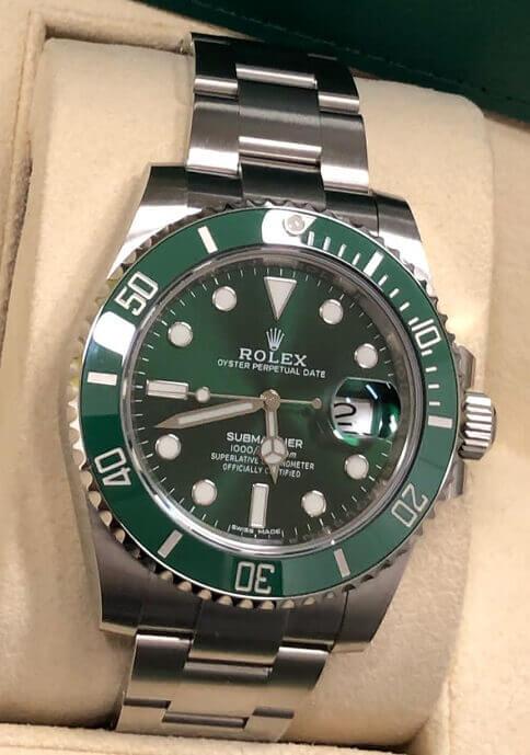 Orologio Rolex Submariner verde Pozzoni Gioielli