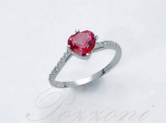 Anello pietra cuore rubino
